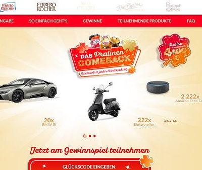 Ferrero Rocher Auto-Gewinnspiel 20 BMW i8