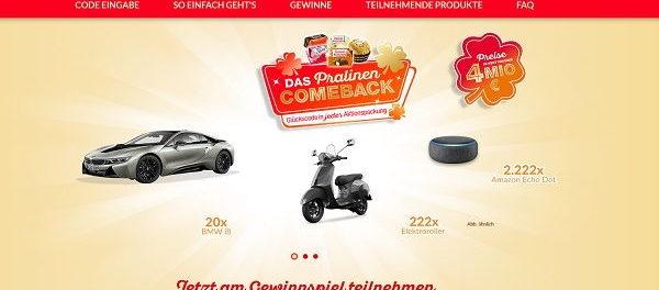 Ferrero Rocher Auto-Gewinnspiel 20 BMW i8 Pralinen Comeback 2019