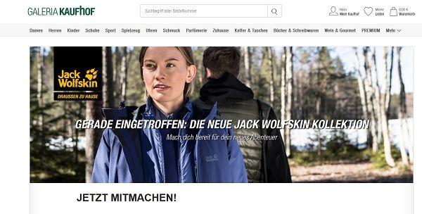 Überraschungspaket Jack Wolfskin Galeria Gewinnspiel Kaufhof orCxWdBe