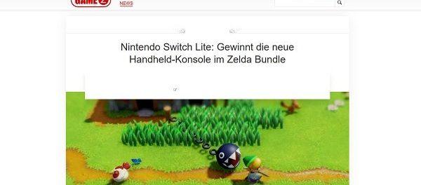 GameZ Gewinnspiel Nintendo Switch Lite mit Zelda Bundle