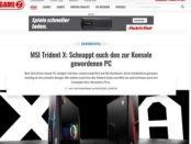 Gamez Magazin Gewinnspiel MSI Trident X Gamer PC