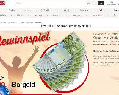 Geld Gewinnspiel Weltbild Verlag Bargeld Verlosung