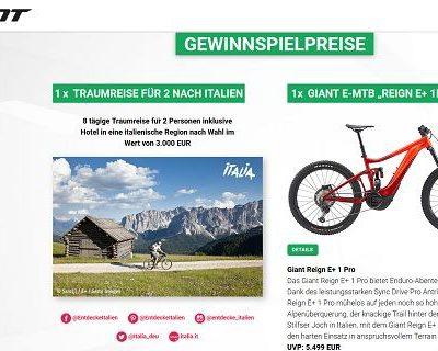 Giant Fahrrad und Italienreise Gewinnspiel 2019
