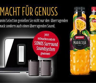 Granini Gewinnspiel Sonos Sourround Soundsystem