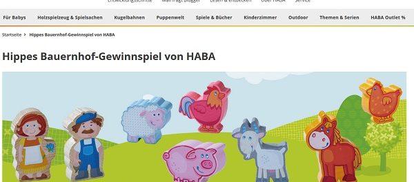 HABA Gewinnspiel Lauflernwagen und Holzspielzeuge