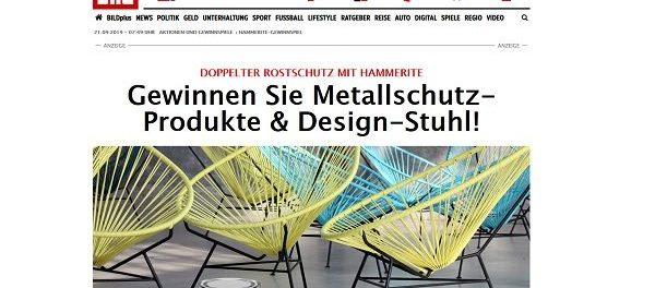 Hammerite Gewinnspiel Design-Stuhl und Produktpakete