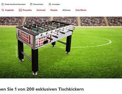 Kaufland Gewinnspiel 200 Effect Energy Drink Tischkicker