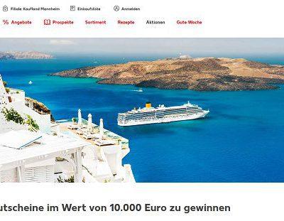 Kaufland und Ferrero Gewinnspiel 4 Reisegutscheine 10.000 Euro