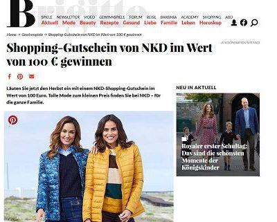 NKD Gutscheine Gewinnspiel Brigitte Magazin
