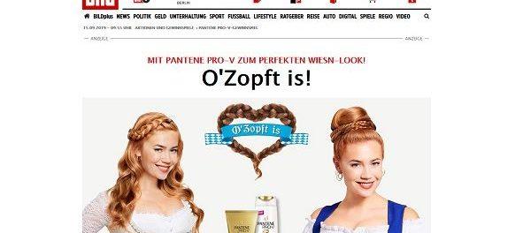 Pantene Pro V und Bild.de Gewinnspiel 500 Euro Dirndl Gutscheine