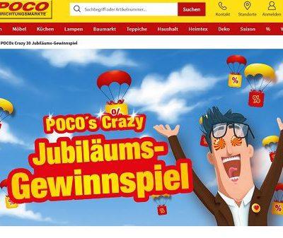 Poco Einrichtungsmärkte Jubiläums-Gewinnspiel 2019