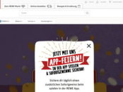 REWE Gewinnspiel APP-Feiern Traumreisen und Gutscheine tägliche Gewinne