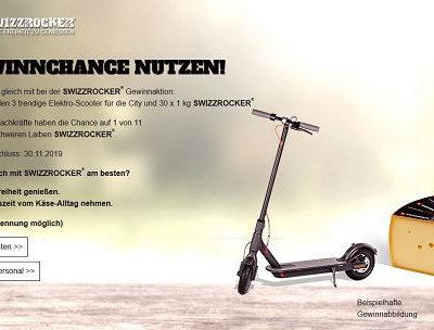 Swizzrocker Gewinnspiel 3 City Elektro-Scooter und Käsepakete