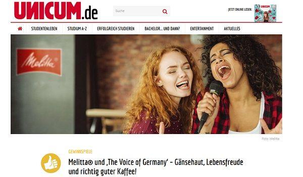 Gewinnspiel the voice heute