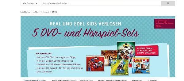 real und Edel Kids Gewinnspiel DVD und Hörspiel-Sets