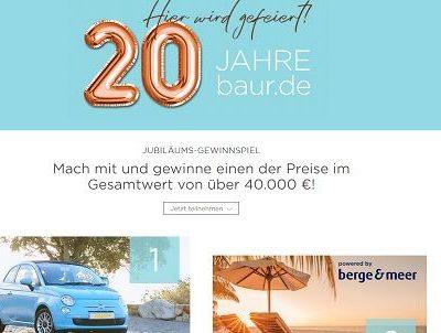 Baur Versand Jubiläums Gewinnspiel Auto oder Reise gewinnen