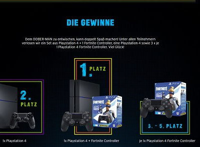 Congstar Gewinnspiel Sony PlayStation 4 Fortnite