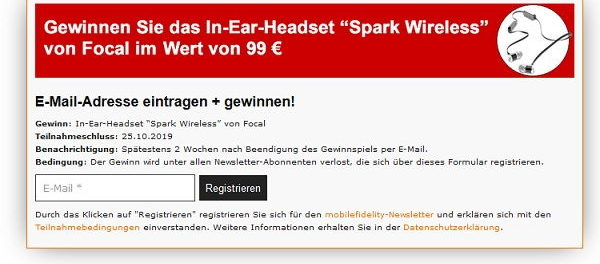 Focal In-Ear-Headset Gewinnspiel Mobilefidelity Magazin