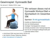 Gymnastik Ball Gewinnspiel bei 3HX
