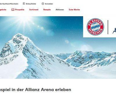 Kaufland Gewinnspiele Adelholzener verlost VIP Tickets Allianz Arena