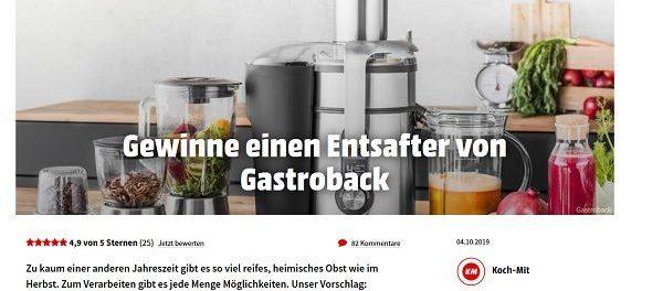 Koch Mit Gewinnspiel Gastroback Entsafter