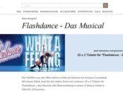 Mona Versand Gewinnspiel 15x2 Karten Flashdance Musical