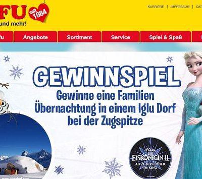 ROFU Gewinnspiel Eiskönigin 2 Iglu Dorf Familien-Übernachtung