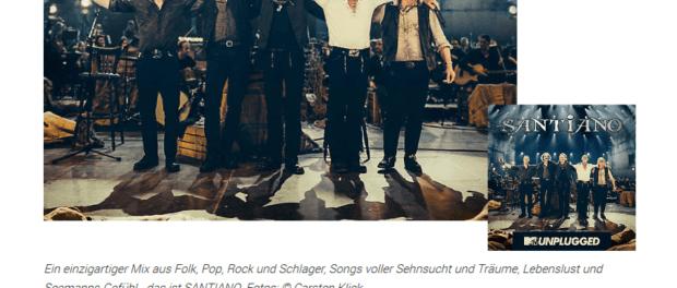 5x 2 Santiano Tourkarten gewinnen (MTV Unplugged Tour)