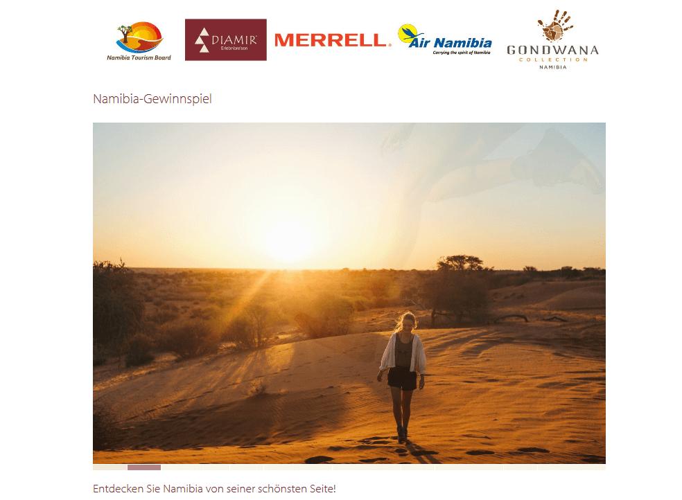 10-tägige Reise nach Namibia für zwei Personen gewinnen!