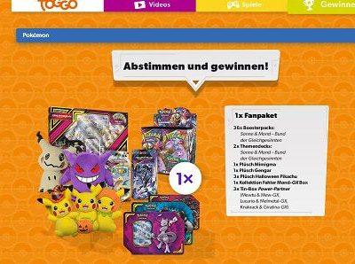 Toggo Pokemon Gewinnspiel 10 große Fanpakete gewinnen