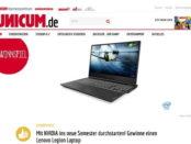 Unicum Gewinnspiel Lenovo Legion Laptop