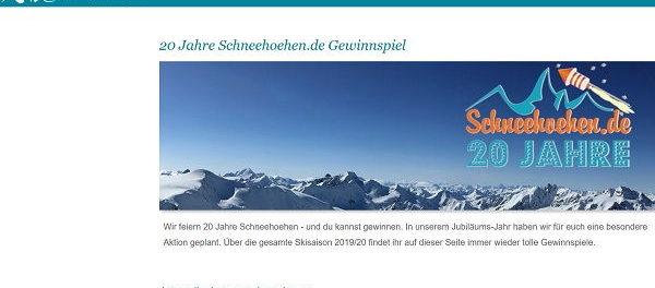 Wintersport Gewinnspiel Schneehoehen.de Sachpreise gewinnen
