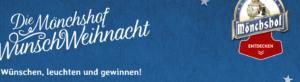 Mönchshof Weihnachtsgewinnspiel: Täglich Wünsche im Wert von 1000€ gewinnen!