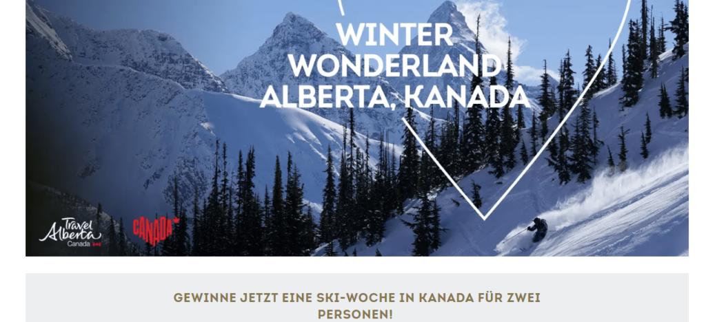 SportScheck Reise Gewinnspiel: Ski-Woche für 2 in Kanada!