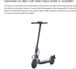 E-Scooter Gewinnspiel: Mit Jolie einen E-Scooter gewinnen!