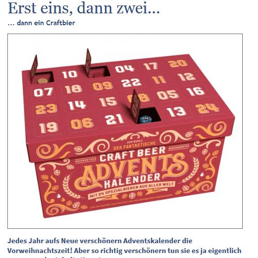 Bier-Adventskalender-Gewinnspiel