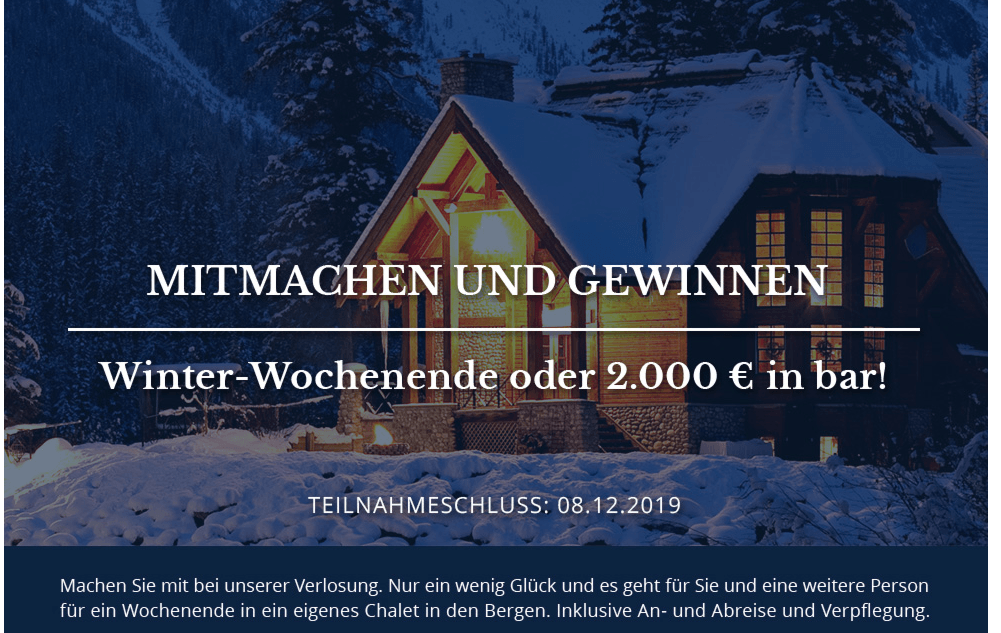 Babista Gewinnspiel: Winter-Wochenende gewinnen oder 2000€ in BAR absahnen!