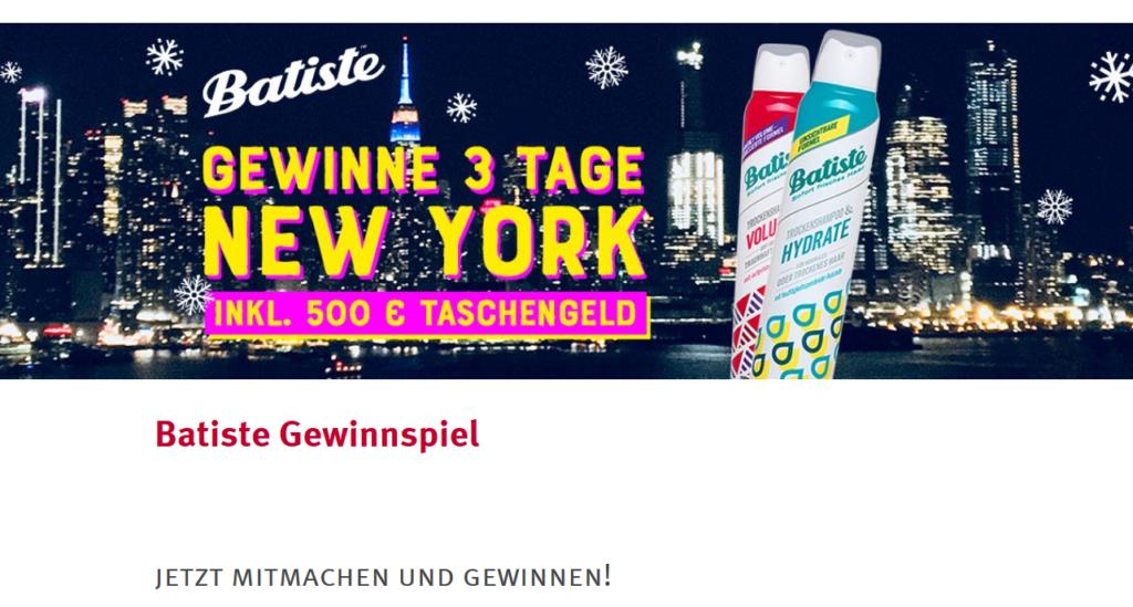 Rossmann Gewinnspiel: 1x Reise nach New York, 500€ Gutschein und noch viel mehr!