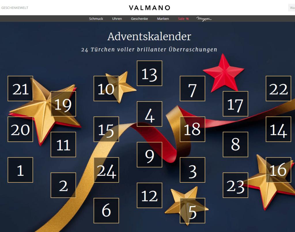 Adventskalender Gewinnspiel: VALMANO – Uhren, Ketten, Ringe und Armbänder