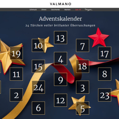 VALMANO Adventskalender - jeden Tag Knaller-Rabatte