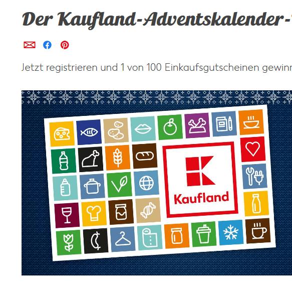 Kaufland Adventskalender 2019: Iphones, Reisen und Gutscheine gewinnen!
