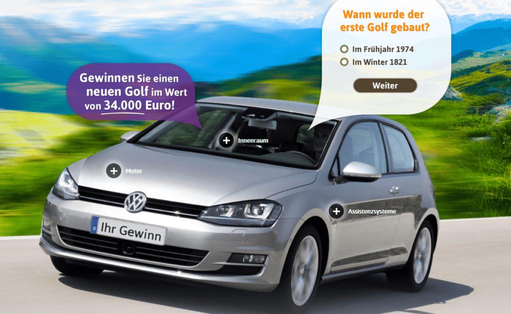 Auto Gewinnspiel: Golf GS im Wert von 34.000€ gewinnen!