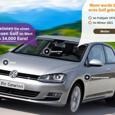 Golf-Gewinner de - Gewinnen Sie einen neuen Golf im Wert von 34 000 Euro 100% Gratis