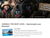 JUMANJI THE NEXT LEVEL - Gewinnspiel - bauSpezi Baumarkt