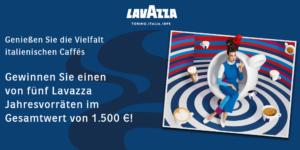 Gewinne 1 von 5 Lavazza Jahresvorräten im Gesamtwert von 1.500 €!