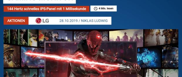 1x Gaming-Monitor gewinnen (nur bis Montag)