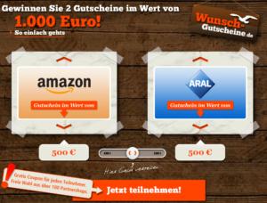 Gutscheine von Amazon, ARAL, H&M, IKEA und MediaMarkt gewinnen!