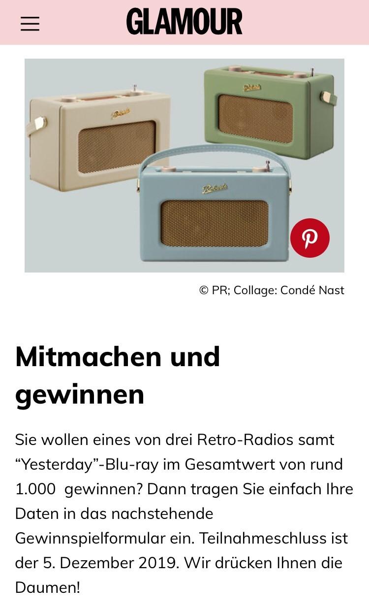 Radio Gewinnspiel: 1 von 3 stylischen Radios gewinnen