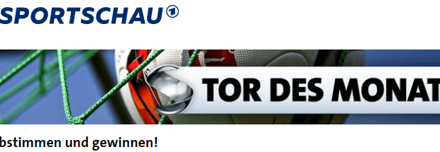 """Wohnmobil gewinnen mit dem """"Tor des Monats"""" von der Sportschau!"""