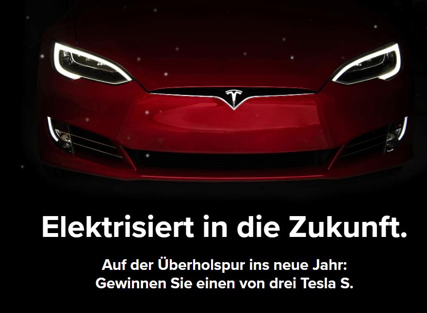 AUTO Gewinnspiel: Tesla S gewinnen! (Nur für Raucher)